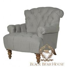 szary pikowany fotel black bear house