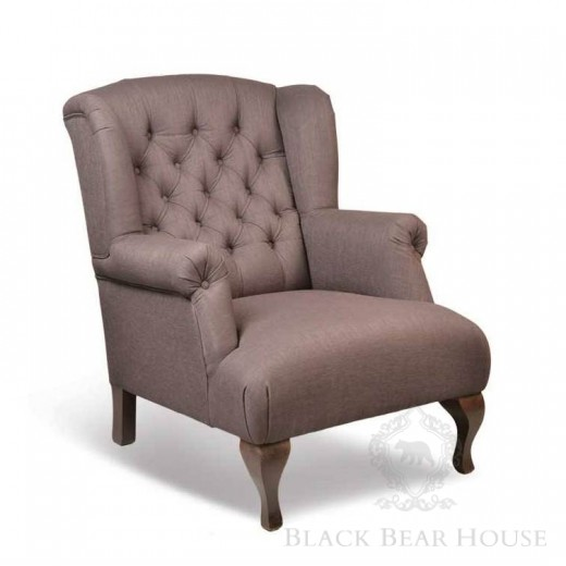 fotel tapicerowany black bear house