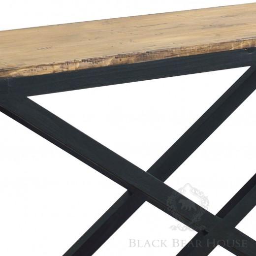 drewniana konsola z postarzanego drewna black bear house