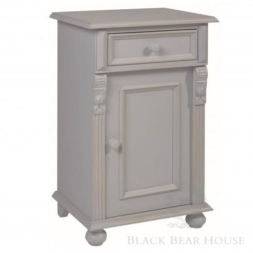 drewniana szara szafka nocna black bear house