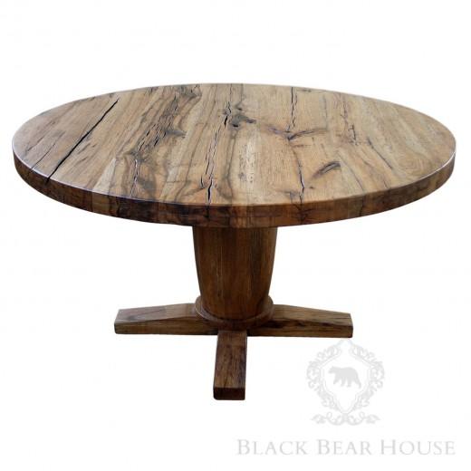 rustykalny dębowy stół black bear house