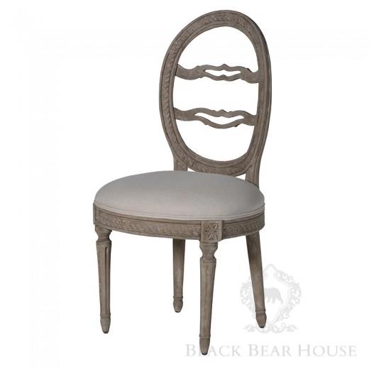drewniane francuskie krzesło