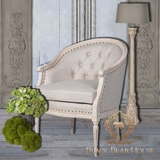 francuski fotel pikowany