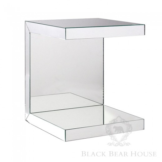 lustrzany stolik w stylu modern classic black bear house