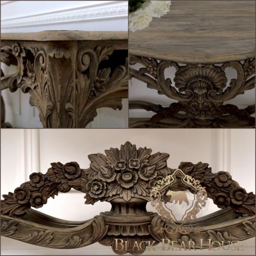 drewniana konsola