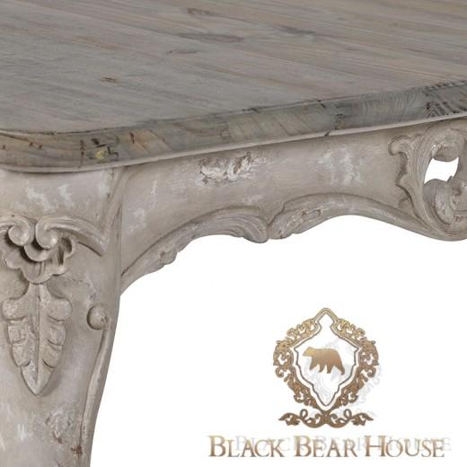 francuski stół o przecieranej powierzchni black bear house