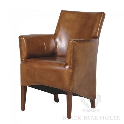skórzane krzesło Black bear house