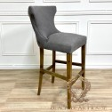 krzeso barowe pikowane szare black bear house  hamptons
