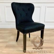 krzesło czarne pikowane modern classic black bear house.013