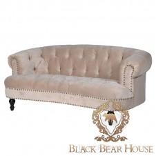 tapicerowana sofa aksamitem