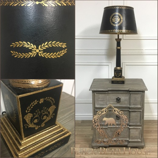 lampa stolikowa czarna black bea house