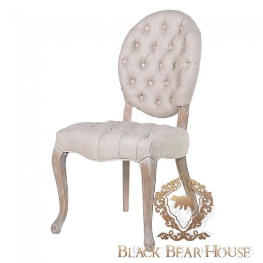 krzesło z pikowanym oparciem