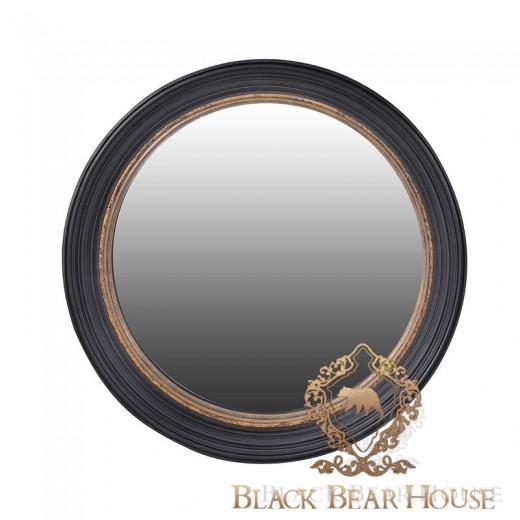 lustro w czarnej ramie