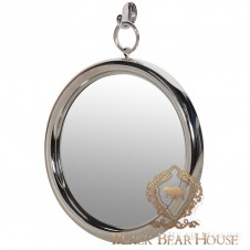 lustro z metalowej ramie