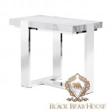 stolik z marmuru i metalu