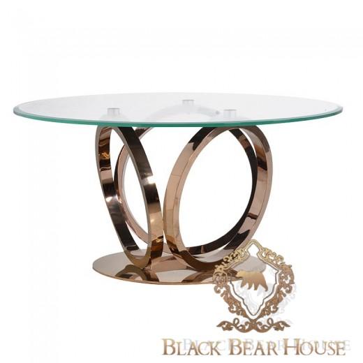 stół z metalu