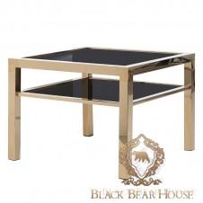 złoty stolik ze stali w stylu nowojorskim