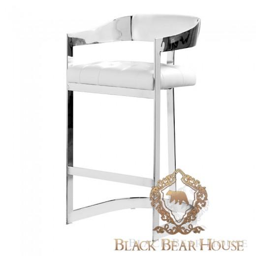 krzesło barowe ze stali nierdzewnej