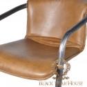 krzesło barowe ze skóry