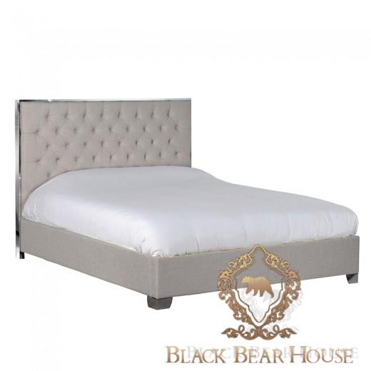 nowojorskie łóżko z wysokim zagłowiem