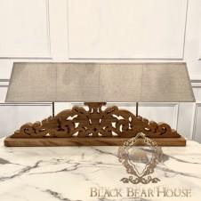 lampa drewniana ażurowa francuska black bear house.024