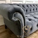 szara pikowana sofa chesterfield black bear house