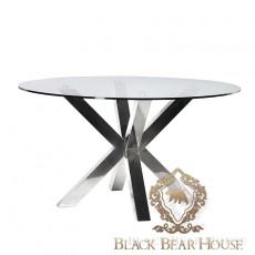 stół na metalowej nodze w stylu nowojorskim