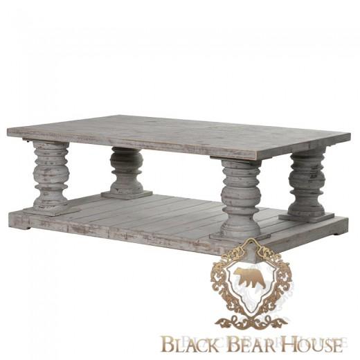 drewniany stolik kawowy w stylu roma