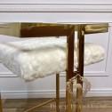 krzesło barowe w kolorze złota w stylu nowojorskim