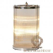 szklana lampa stolikowa w stylu nowojorskim