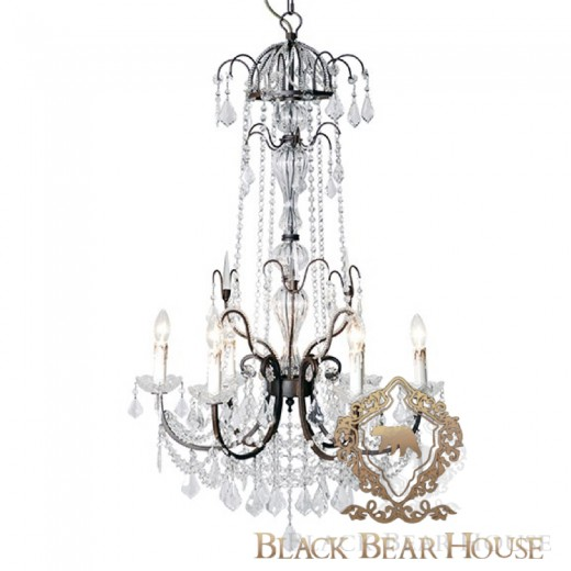 żyrandol w stylu francuskim black bear house