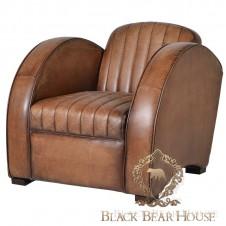 fotel skóra vintage black bear house