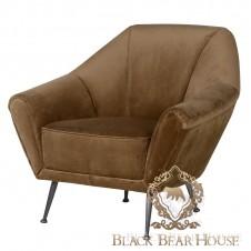 fotel welurowy w brązie black bear house