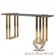 złota konsola w stylu modern classic black bear house