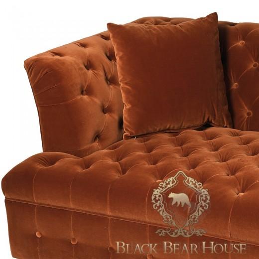 sofa welurowa w stylu modern classic black bear house