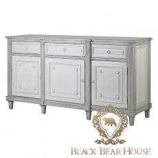 francuska bielona komoda black bear house