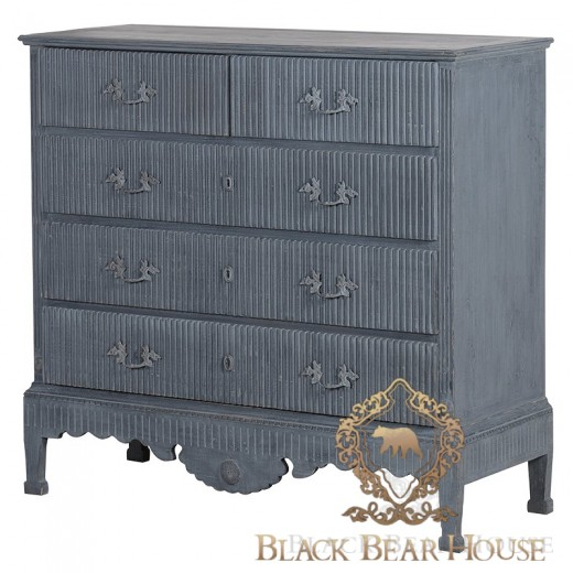 francuska komoda blue wash black bear house