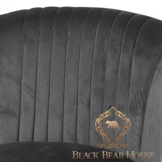 fotel modern classic szary black bear house