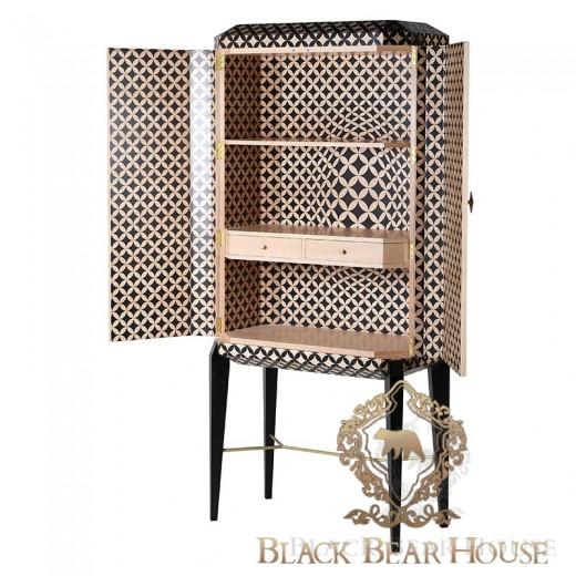 szafka op art w stylu art deco black bear house