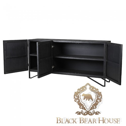 komoda w stylu art deco modern classic black bear house