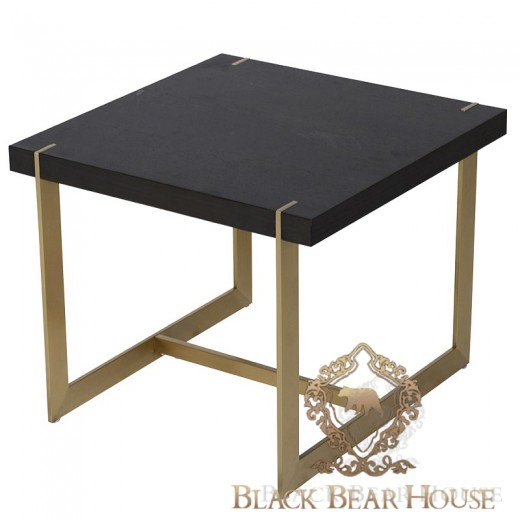 Stolik modern classic ze złotymi nogami black bear house