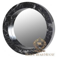 lustro dekoracyjne marmur black bear house