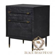 skórzana szafka vintage loft black bear house