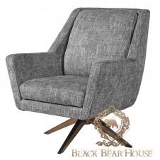 szary fotel modern classic black bear house
