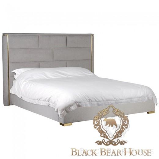 szaro złote łóżko art deco modern classic black bear house
