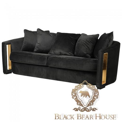 czarno złota sofa modern classic black bear house