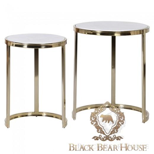 stolik z marmurem modern classic black bear house