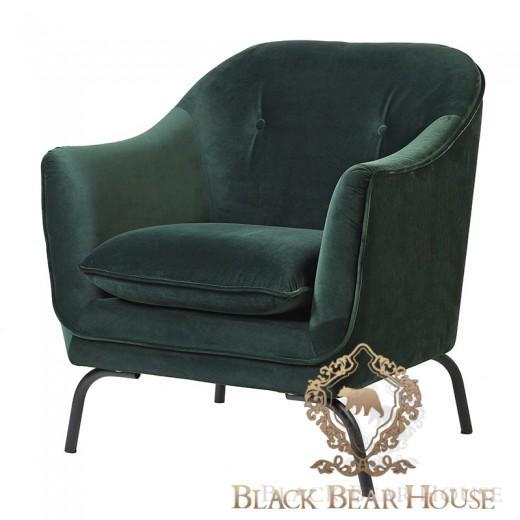 zielony fotel modern classic black bear house
