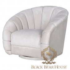 fotel w stylu modern classic black bear house