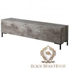 Nowoczesna szafka pod tv beton black bear house